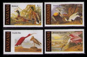 TANZANIA 1986 ENDANGERED WILDLIFE, BIRDS SC #306-309 CPL SET 4 MNH (U291)