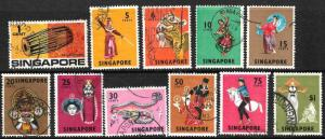 SINGAPORE 1968 PICTORIALS  PART  SET TO $1  FU
