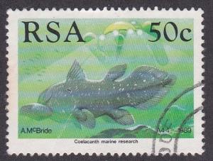 South Africa # 765, Two Man Submersible Sub & Fish, Used 1/3 Cat.