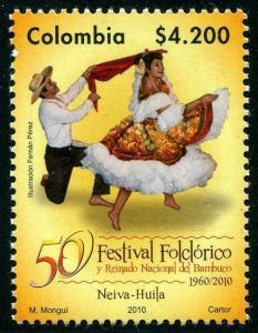 HERRICKSTAMP COLOMBIA Sc.# 1338 Bambuco Festival