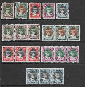 Luxembourg  B35-9 MNH set cpl,  x 4,see desc. 2020 CV $80.00