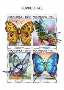 HERRICKSTAMP NEW ISSUES MOZAMBIQUE Butterflies Sheetlet