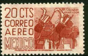 MEXICO C220 20¢ 1950 Def 6th Issue Fosforescent unglazed MINT, NH. F-VF.