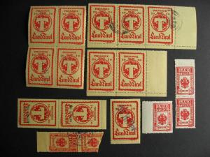 Austria 16 Tirol local stamps, some overprinted, duplication, mixed condition