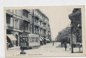 VINTAGE POST CARD , ALEXANDRIA , RAMLEH STATION  STREET  1919, O.A.S.   REF  P11