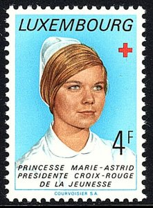 Luxembourg 540,MNH.Princess Marie-Astrid, pres. of Red Cross Youth Section,1974