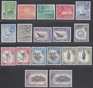 Aden 1953-1959  #48-61a Mint VLH