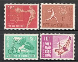 Viet Nam 272-75 Sports Complete Set Of 4 Mint/nh (Free Shipping)