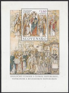 Slovakia 2013 MNH Sc #666 1.60E Mission of Sts Cyril, Methodius to Slavic Lan...