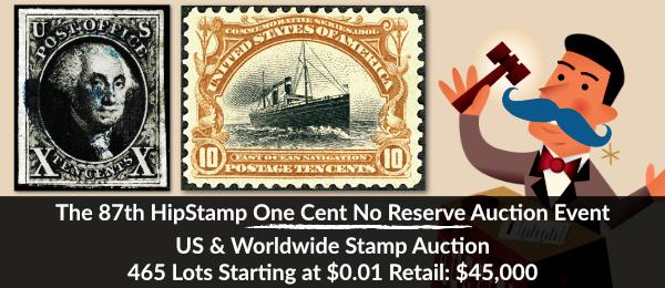 The 87th HipStamp One Cent Auction Event