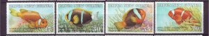 J21862 Jlstamp 1987 png set mnh #659-62 fish