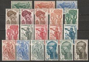 Cameroun 1946 Sc 304-21 Yt 276-94 complete set MLH*/MNH**
