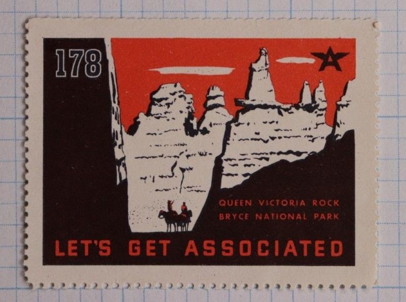 Flying A Tydol gas oil co Bryce Canyon NP 178 associated stamp brand ad poster