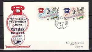 Cayman Is., Scott cat. 189-190. Telephone System issue. First Day Cover.