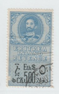 UK Italy Eritrea Ethiopia Africa fiscal revenue Stamp 5-11-21-a1 -> Front Scuff