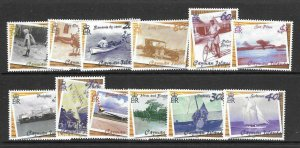 CAYMAN ISLANDS SG958/69 2001 TRANSPORTATION MNH