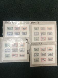 3209 Trans-Mississippi. 100 Sheet Of 9. Mint NH