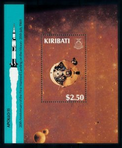 [102297] Kiribati 1989 Space travel weltraum Apollo 11 Souvenir Sheet MNH