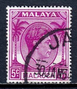 Malaya (Malacca) - Scott #22 - Used - CTO, color bleed UR corner - SCV $1.75