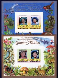 Montserrat 1986  Queen Mother/Concorde/Mushrooms SS(2)Imperf Sc#563/564