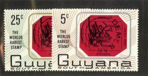 GUYANA 26-27 MNH BIN $0.50 STAMP ON STAMP