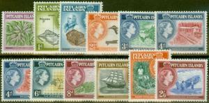 Pitcairn Islands 1957-58 set of 12 SG18-28 V.F Very Lightly Mtd Mint
