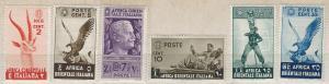 Italian East Africa 1-5,9 (NH)