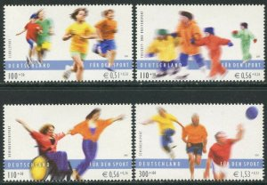 GERMANY Sc#B880-B883 2001 Sports Complete OG Mint NH
