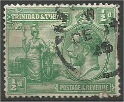 TRINIDAD AND TOBAGO, 1922, used 1/2p, George V  Scott 21