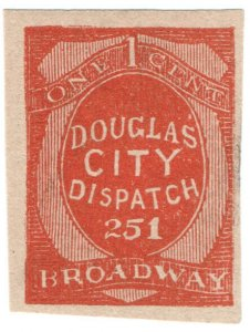 (I.B) US Local Post : Douglas City Dispatch 1c