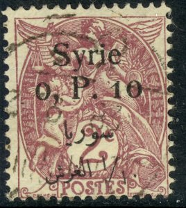 SYRIA 1924-25 10c on 2c Blanc Issue Sc 143 VFU