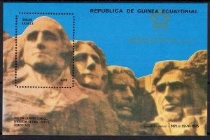 Equatorial Guinea 1976 Mi#Bl.222  American Bicentennial Mount Rushmore S/S MNH