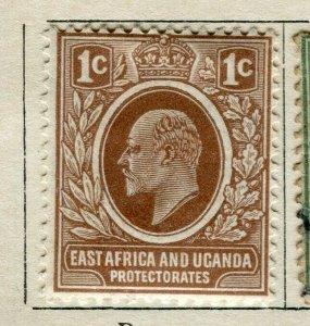 BRITISH KUT; 1907 early Ed VII issue fine Mint hinged 1c. value