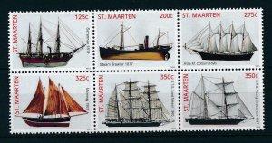 [SM175] St. Martin Maarten 2013 Sailing Ships MNH