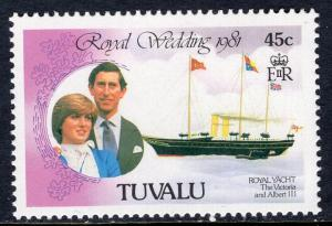 Tuvalu 159 Royal Wedding Ship MNH VF