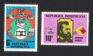 Dominican Rep. Telephone Centenary 2v 1976 MNH SG#1262-1263