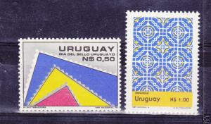 URUGUAY Sc#1012/13 MNH STAMPS stamps day stamp on stamp & spanish heritage day