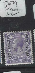 BECHUANALAND  (PP1904B)  KGV ON GB 3  D     SG  79       MOG