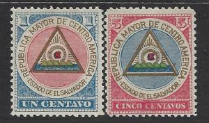 El Salvador Scott # 175 - 176, mint hr