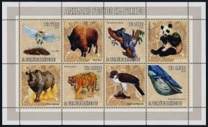 St Thomas & Principe 1598 MNH Animals, Birds, Owl, Whale, Tiger, Koala, Panda