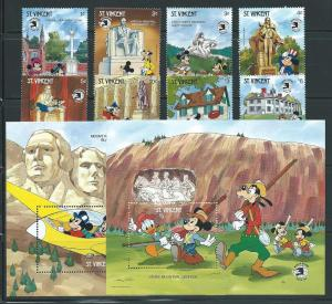 St. Vincent 1256-65 1989 Disney World Stamp Expo set and ...