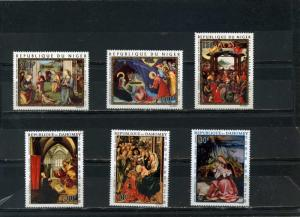 CHRISTMAS PAINTINGS SMALL COLLECTION SETS OF 6 STAMPS MNH