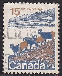 Canada 595 Hinged Used 1972 Big Horn Mountain Sheep
