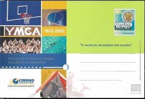 PS-136 ARGENTINA 2002 P STATIONARY YMCA ARGENTINA CENTENARY UNUSED