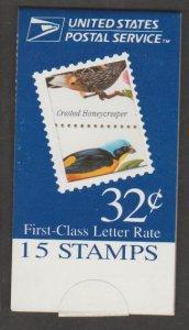U.S. Scott #3222-3225 BK272 Tropical Birds Stamp - Mint NH Booklet