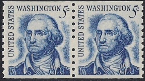 #1304 5 cent George Washington Coil Error mint OG NH XF+ XXF