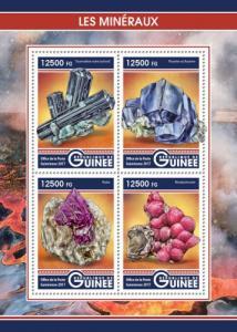 GUINEA - 2017 - Minerals - Perf 4v Sheet - M N H