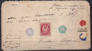 Norway #18 On Cover CV $35.00  (Z1522L)
