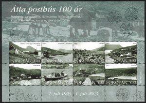 (CMA) Faroe Islands Scott #435 MNH Sheet of 8