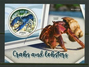 MALDIVES 2019 CRABS AND LOBSTERS SHEET  MINT NEVER HINGED